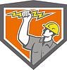 Elektriker Wield Lightning Bolt Side-Kamm