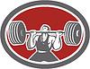 Weightlifter Hebelanghantel vorne Oval Retro