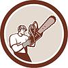 Lumberjack Baumdoktor Baumpfleger Kettensäge Kreis
