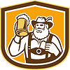 Bayerisches Bier-Trinker-Becher Schild Retro