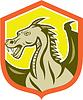 ID 4324519 | Green Dragon Leiter Schild Cartoon | Stock Vektorgrafik | CLIPARTO
