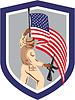 Soldat Militär-Soldat, Gewehr-Flagge