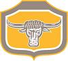 Bull Leiter Schniefen Schild Retro