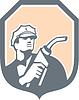 Benzin-Zapfpistole Attendant Schild Retro