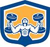 Man Lifting Hantel Gewicht Körperliche Fitness Retro