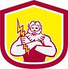 Griechischer Gott Zeus Arme Kreuz Thunderbollt Retro