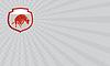 ID 4393056 | Visitenkarte Raging Bull Jumping Offensiv Chargin | Illustration mit hoher Auflösung | CLIPARTO