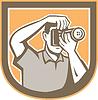 Fotograf Kamera Schild Retro