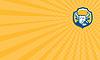 ID 4417620 | Визитная карточка Злой Bull Руководитель Crest Ретро Woodcut | Иллюстрация большого размера | CLIPARTO