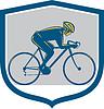 Radfahrer fahren Mountainbike-Schild Retro