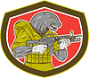 Vector clipart: Navy Seal With Armalite Rifle Shield