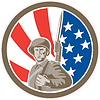 Amerikanischer Soldat Serviceman Bajonett Kreis Retro
