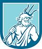 Neptun Poseidon Trident Schild Retro