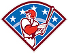 Amerikanischen Baseball Batter Hitter Bat Diamant Retro