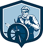 Fisherman Sea Captain Retro Schild