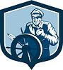 Fisherman Sea Captain Retro Schild