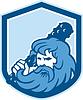 Hercules waltende Club-Schild Retro