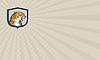 ID 4437066 | Wizytówka gniewnych Tygrys głowy siedzący Warczenie | Stockowa ilustracja wysokiej rozdzielczości | KLIPARTO