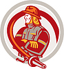 Векторный клипарт: Пожарный Пожарный Постоянный складной Arms Круг