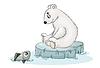 weißer Teddybär und Fisch