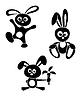 Schwarz-Weiß-Kaninchen
