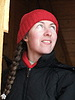 Girl in red knitted cap | Stock Foto