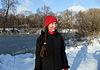 Girl in winter at lake | Stock Foto