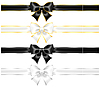 ID 4143750 | White and black bows with gold and silver edging an | Klipart wektorowy | KLIPARTO