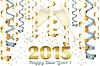 Champagner-Gläser im neuen Jahr | Stock Vektrografik