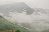 Great Wall fog over mountains in Beijing | Stock Foto