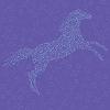 Mosaik in Form von Pferd auf nahtlose Muster
