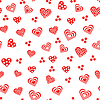 ID 4134078 | Seamless pattern with various red and white hearts | Klipart wektorowy | KLIPARTO