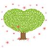 Zielone drzewo z koroną w kształcie serca | Stock Vector Graphics