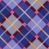 Checkered nahtlose Diagonale Tartan Textur