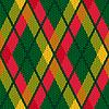 Rhombic Tartan grünen und roten Stoff nahtlose Textur