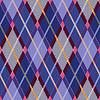 Rombowy tartan niebieski i różowy tkaniny tekstury bez szwu | Stock Vector Graphics