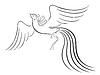 Schwarz anmutige Kontur Firebird