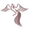 Schwarz und rot anmutige Kontur Firebird