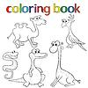 Zestaw zwierząt dla kolorowanka | Stock Vector Graphics