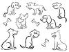 Zestaw Cartoon psów   Stock Vector Graphics