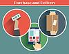 Internet-Shopping-Prozess des Einkaufs