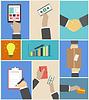 Set von Business Hände Handlungskonzepte