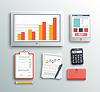 비즈니스 작업 요소   Stock Vector Graphics