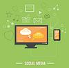 응용 프로그램 아이콘의 구름. 소셜 미디어   Stock Vector Graphics