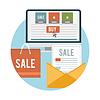 비즈니스 온라인 판매 아이콘   Stock Vector Graphics