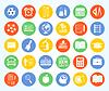 Векторный клипарт: Снова в школу набор иконок