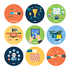 Векторный клипарт: интернет-магазин, электронная коммерция, оплата и доставка