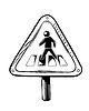 Fußgängerübergang Verkehrszeichen