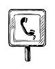 Telefonzelle Verkehrszeichen