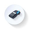 Terminal kart kredytowych płaskim ikona | Stock Vector Graphics